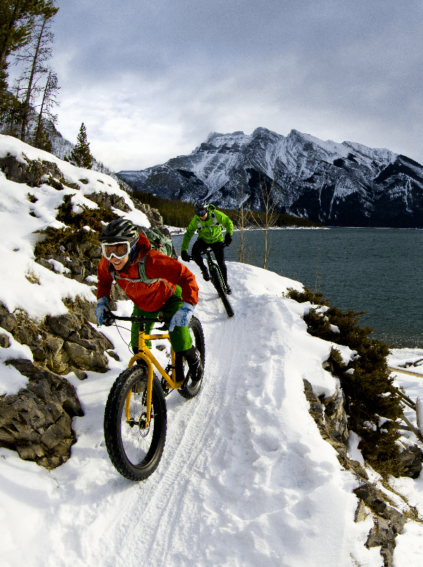 CAP adventure mountain biking on snow