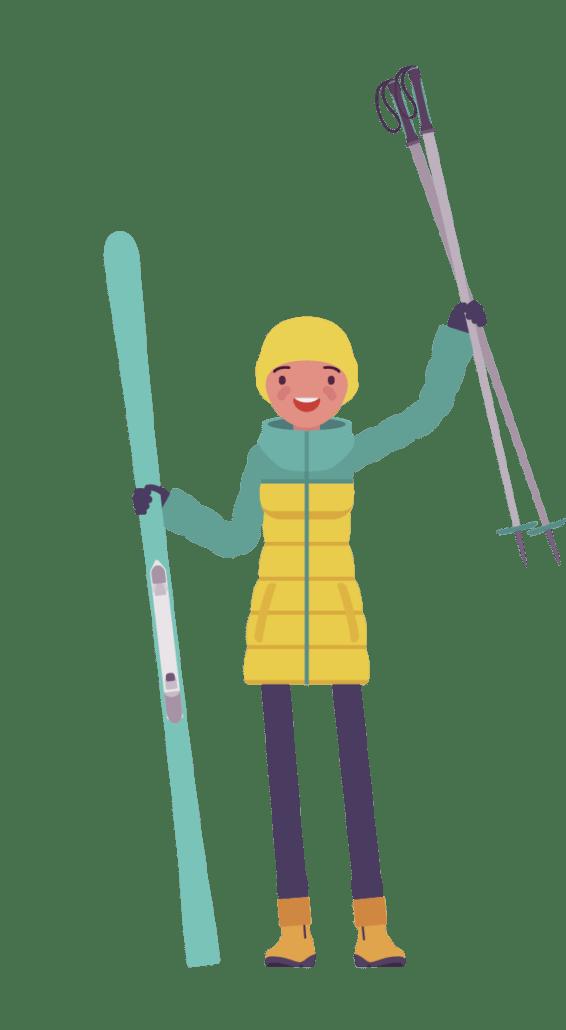 CAP skier cartoon