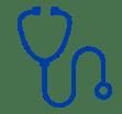 CAP stethoscope medical practitioners icon