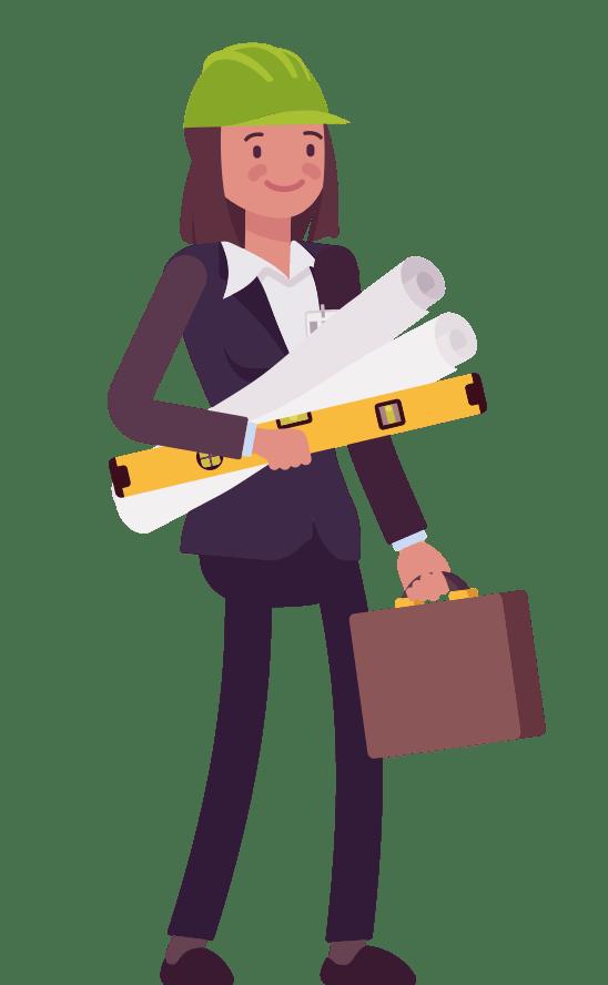 CAP business woman contractor