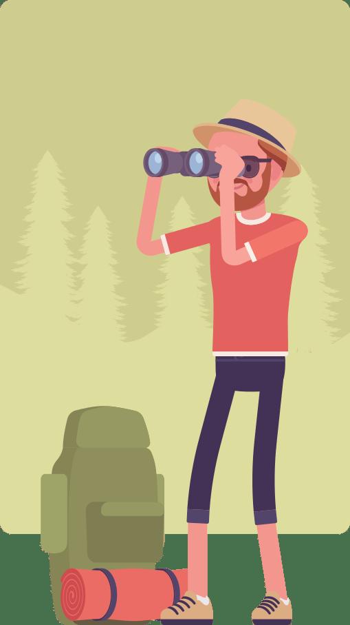 CAP bird watcher cartoon