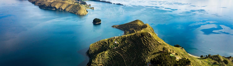 CAP Island of the sun at lake Titicaca in Bolivia