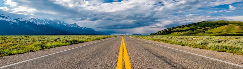CAP Empty open highway in Wyoming