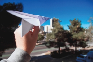 Throwing a Paper Plane