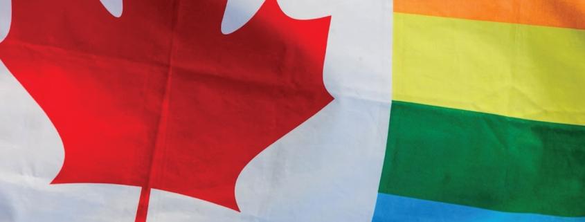 LGBTQ+ Canada Flag